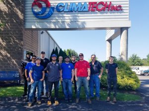 photo of Rosedale Technical College students at Climatech Pittsburgh